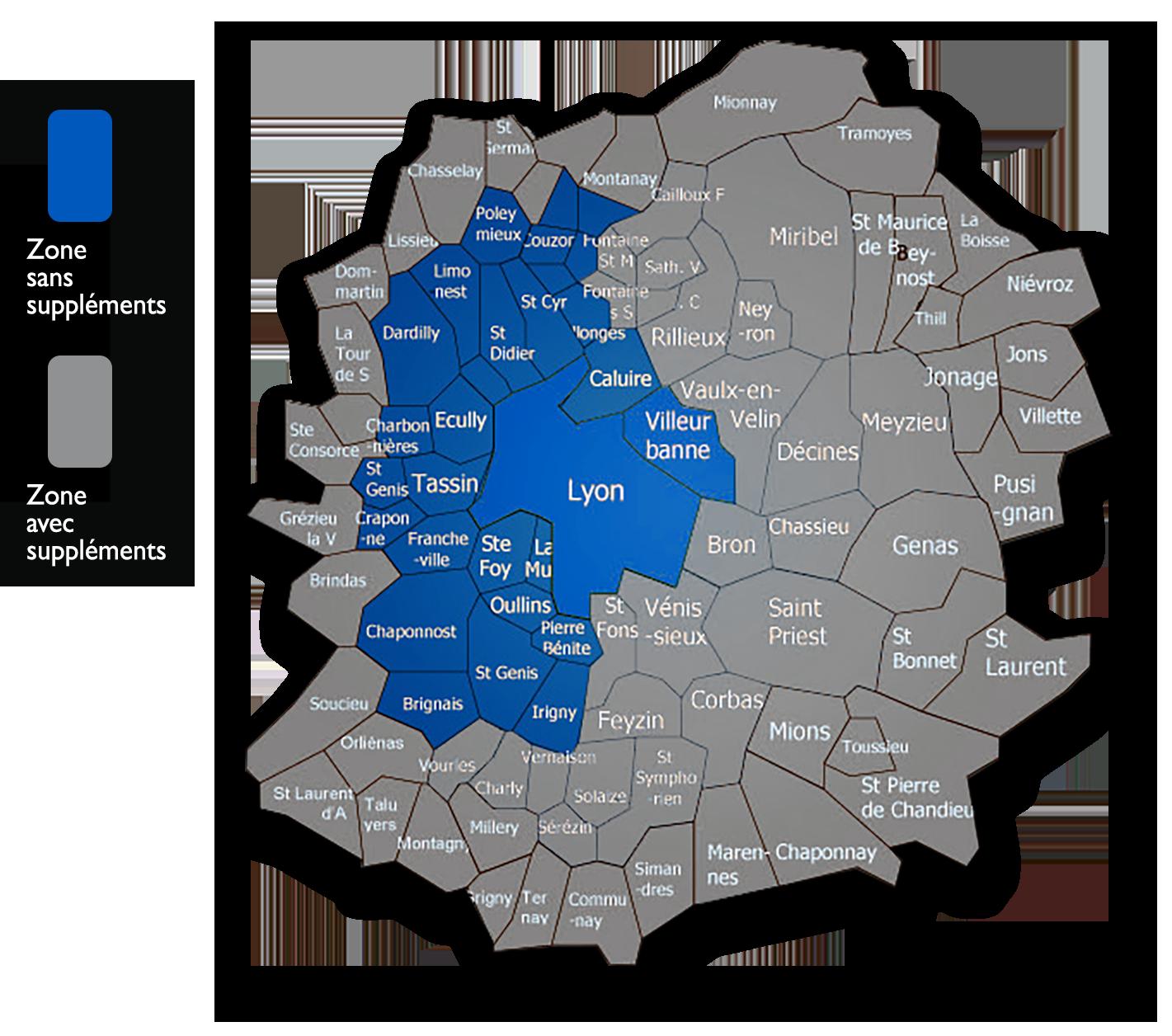 carte des zones